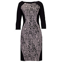 Buy Betty Barclay Jersey Snake Print Dress, Black/Taupe Online at johnlewis.com
