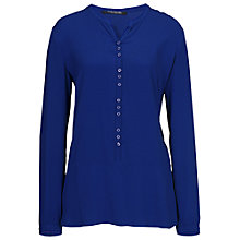 Buy Betty Barclay Collarless Long Shirt, Blue Adria Online at johnlewis.com