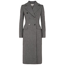 Buy Hobbs Elsa Wool Coat, Grey Melange Online at johnlewis.com