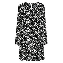 Buy Mango Printed Dress, Black Online at johnlewis.com