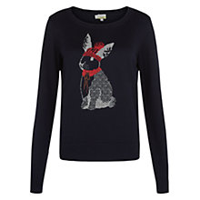 Buy NW3 by Hobbs Rabbit Jumper, Navy Online at johnlewis.com