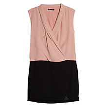 Buy Mango Sleeveless Contrast Bodice Dress, Pastel Pink Online at johnlewis.com