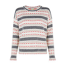 Buy Hobbs Angela Sweater, Ivory Online at johnlewis.com