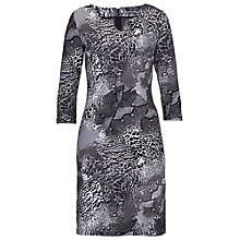 Buy Betty Barclay Snake Print Jersey Dress, Taupe/Beige Online at johnlewis.com