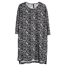 Buy Mango Graffiti Print Dress, Black Online at johnlewis.com