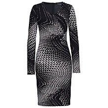 Buy Betty Barclay Abstract Print Bodycon Dress, Black/Taupe Online at johnlewis.com