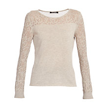 Buy Betty Barclay Fine Knit Lace Jumper, Taupe Online at johnlewis.com