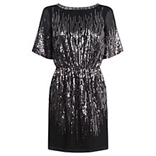 Buy Warehouse Scatter Sequin Dress, Black Online at johnlewis.com