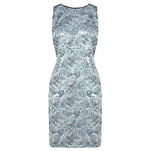 Buy Coast Gabby Jacquard Dress, Pale Blue Online at johnlewis.com
