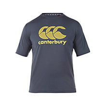 Buy Canterbury of New Zealand VapoDri Poly Logo T-Shirt, Carbon Online at johnlewis.com