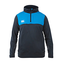 Buy Canterbury of New Zealand Airguard Elite Hybrid Hoodie, Black/Blue Online at johnlewis.com