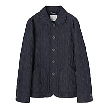 Buy Jigsaw Quilted Cotton Jacket, Indigo Online at johnlewis.com