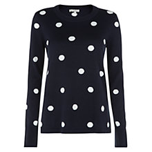 Buy Hobbs Zaya Jumper, Navy Ivory Online at johnlewis.com