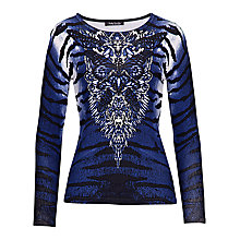 Buy Betty Barclay Animal Effect Jumper, Dark Blue/Cream Online at johnlewis.com