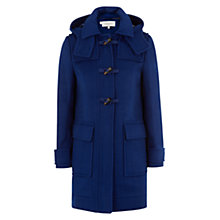 Buy Hobbs Netty Duffle Coat, Bluebell Online at johnlewis.com