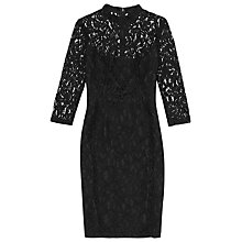Buy Reiss Delilah Lace Dress, Black Online at johnlewis.com