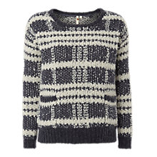 Buy White Stuff Check Jumper, Bluebell Online at johnlewis.com