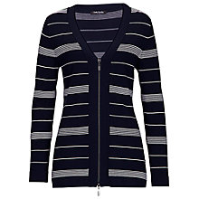 Buy Betty Barclay Zip Cardigan, Dark Blue/Cream Online at johnlewis.com