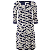 Buy White Stuff Mono Rockafella Dress, Navy/Off White Online at johnlewis.com