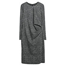 Buy Violeta by Mango Jacquard Jersey Dress, Dark Grey Online at johnlewis.com