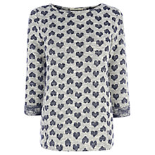 Buy Oasis Heart Jacquard Sweater, Blue/Multi Online at johnlewis.com