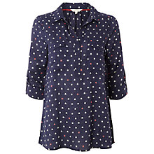 Buy White Stuff Tiny Cabin Shirt, Nightshade Online at johnlewis.com