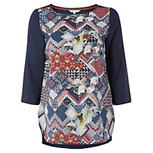 Buy White Stuff Pin Top, Blue/Red Online at johnlewis.com