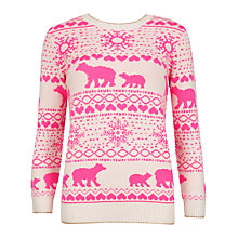 Buy Ted Baker Polar Bear Fairisle Jumper, Straw Online at johnlewis.com