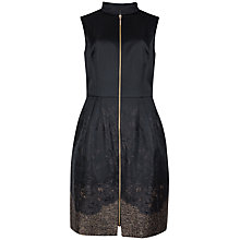 Buy Ted Baker Fitted Bodice Zip Dress, Black Online at johnlewis.com