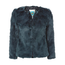Buy White Stuff Jazzy Faux Fur Jacket, Hummingbird Online at johnlewis.com
