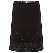 Buy White Stuff Chintz Cord Embroidered Cotton Skirt, Graphite Online at johnlewis.com