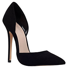 Buy Carvela Albert Suede High Heel Court Shoes, Black Online at johnlewis.com