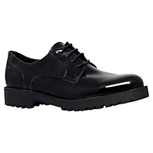 Buy Carvela Lisbon Patent Leather Brogues, Black Online at johnlewis.com