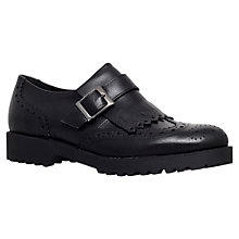Buy Carvela Labour Leather Brogues, Black Online at johnlewis.com