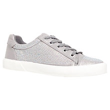 Buy Carvela Lock Trainers, Silver Online at johnlewis.com