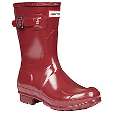 Buy Hunter Women's Original Short Wellington Boots, Gloss Damson Online at johnlewis.com