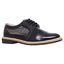 Buy KG by Kurt Geiger Lingo Flat Brogues, Black Leather Online at johnlewis.com