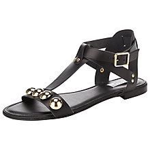 Buy Collection WEEKEND by John Lewis Enna T-Bar Studded Leather Sandals Online at johnlewis.com