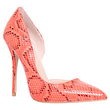 Buy Carvela Asya High Heel Court Shoes, Orange Online at johnlewis.com