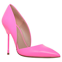 Buy Kurt Geiger Bond Ultra Slim High Heel Leather Court Shoes, Pink Online at johnlewis.com