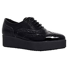 Buy Carvela Leslie Patent Leather Brogues, Black Online at johnlewis.com