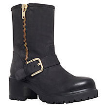 Buy Carvela Spartan Leather Calf Boots, Black Online at johnlewis.com