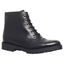Buy Carvela Slowly Leather Boots, Black Online at johnlewis.com