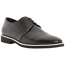 Buy Dune Bedford Contrast Sole Leather Lace-Up Shoes, Black Online at johnlewis.com