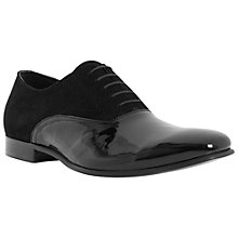 Buy Dune Reflex Suede and Patent Oxford Shoes, Black Online at johnlewis.com