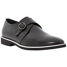 Buy Dune Brickyard Contrast Sole Leather Monk Shoes, Black Online at johnlewis.com