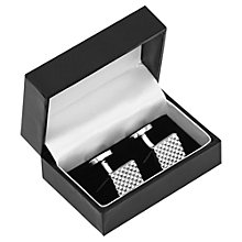 Buy Reiss Sparrow Textured Square Cufflinks, Silver Online at johnlewis.com