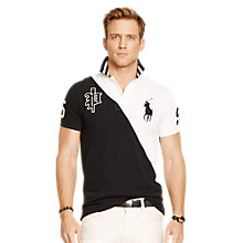 Buy Polo Ralph Lauren Varsity Polo Shirt, Black/White Online at johnlewis.com
