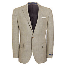 Buy Polo Ralph Lauren Linen Blend Check Blazer, Black/White Online at johnlewis.com