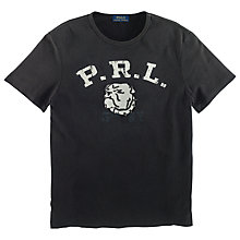 Buy Polo Ralph Lauren Bulldog Logo T-Shirt, Black Online at johnlewis.com